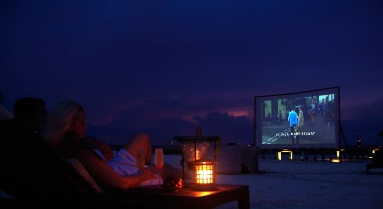 Silver screen under the stars